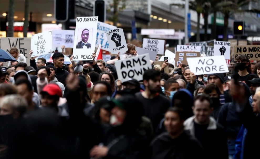 Crowds Protest in New Zealand Against George Floyd's Death and Police Brutality Against Indigenous Communities