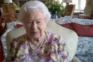 While Socially Distanced at Windsor Castle, Queen Elizabeth II Makes First Public Video Conference Call