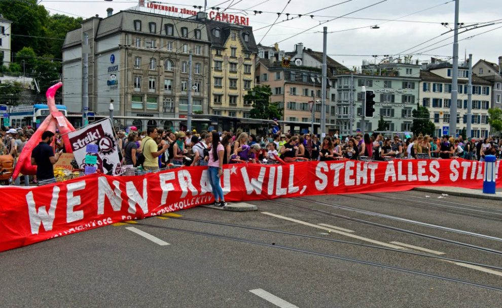 Women In Switzerland Scream In Protest Of Gender Inequality