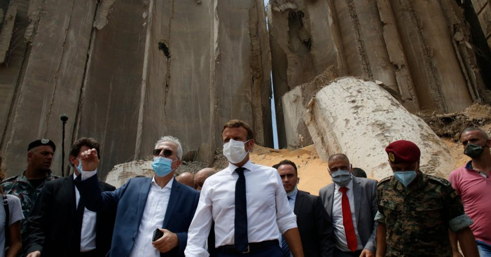French President Macron Calls for a 'New Political Order' in Lebanon as He Visits a Ravaged Beirut
