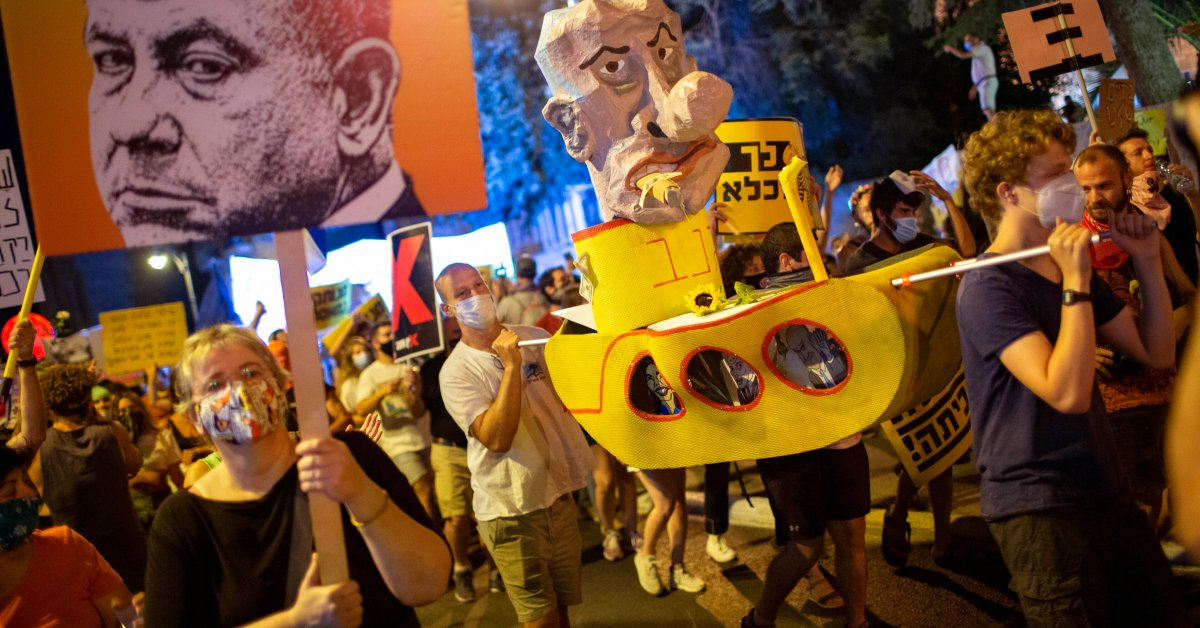 Israeli Prime Minister Netanyahu Rails at Media for 'Inflaming' Wave of Protests In opposition to Him