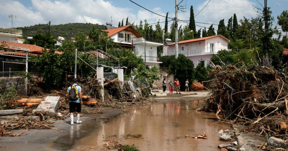 Storm Floods Greek Island of Evia, Leaving a Baby and 6 Others Dead