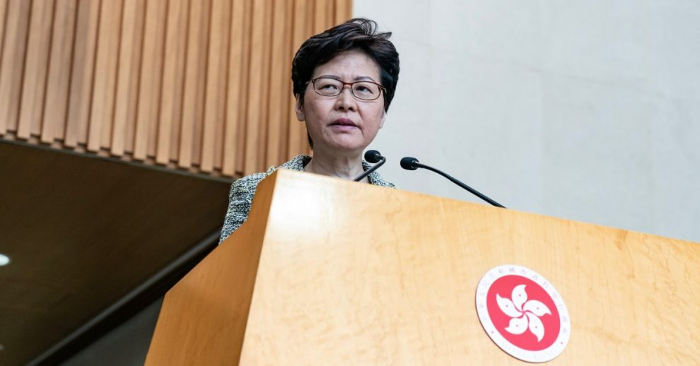 U.S. Sanctions Hong Kong Leader Carrie Lam and Other Officials