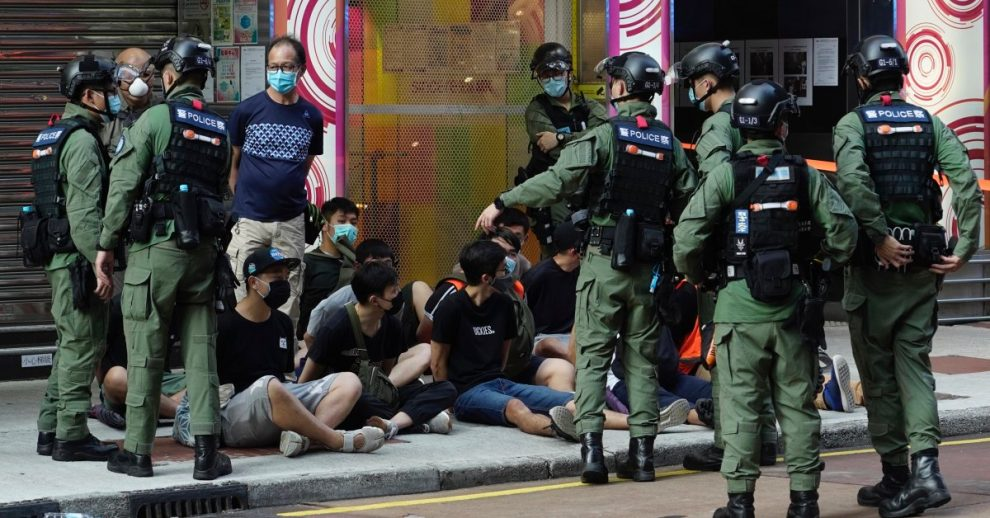 Hong Kong Police Arrest 90 Protesters During Demonstrations Over Local Election Delay