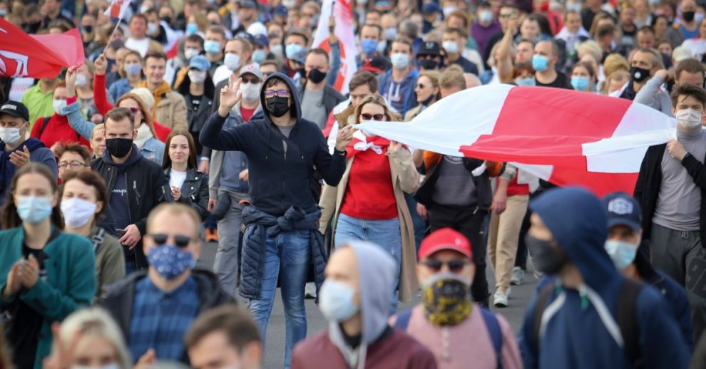 Over 100,000 March in Belarus Against Authoritarian Leader