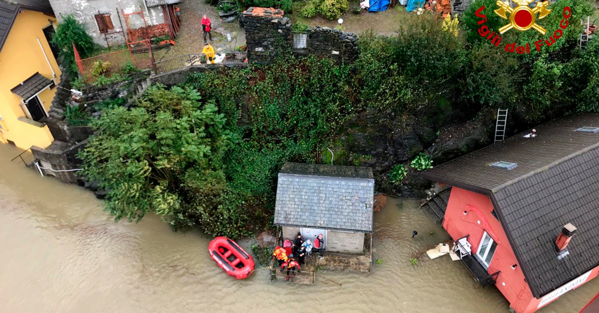 Search and Rescue Efforts Underway After Heavy Flooding in France and Italy