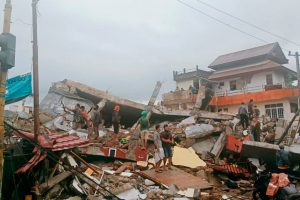 Strong Earthquake Sets Off Landslides and Flattens Homes in Indonesia