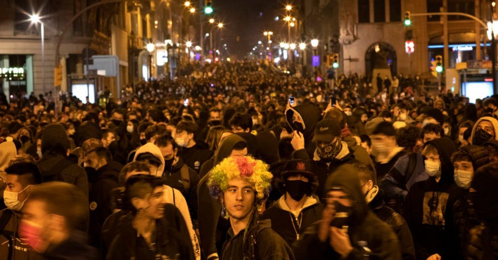 Angry Youths Rattle Spain in Support of Jailed Catalan Rapper Pablo Hasel