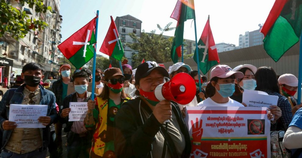 Protesters Are Back on the Streets of Myanmar Despite Police Violence