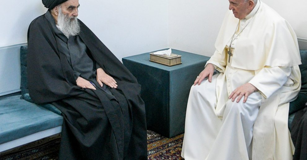 Pope Francis and Top Iraq Shiite Cleric Hold Historic Meeting
