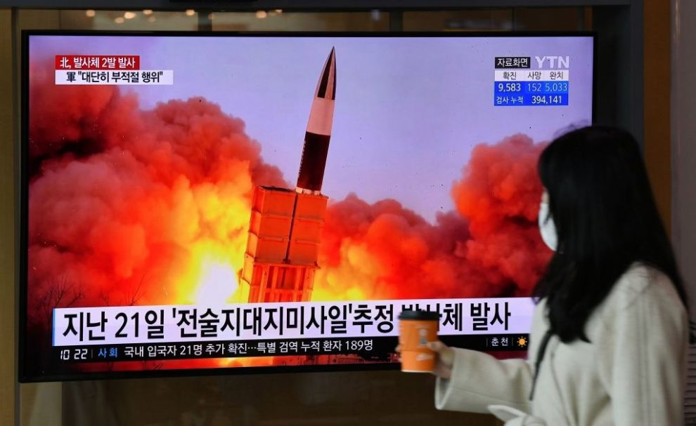 South Korea Says North Korea Has Fired Two Missiles into the Sea