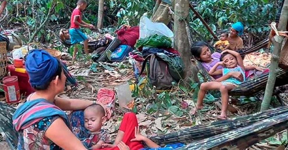 Thousands of People Are Fleeing Into Thailand Following Air Strikes in Myanmar