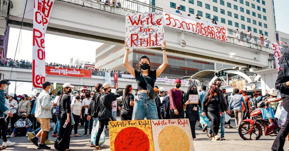 Myanmar's Artists Captured the Spirit of the Resistance. Now They're Continuing the Fight from Abroad