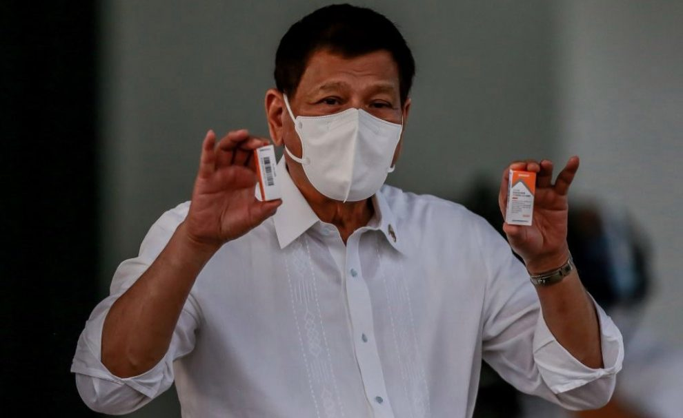 Philippine President Duterte Threatens to Jail People Who Refuse COVID-19 Vaccine
