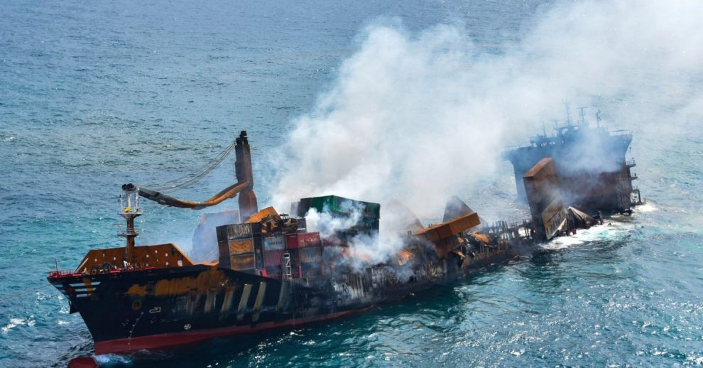 Sri Lanka Braces for Environmental Disaster as a Fire-Damaged Container Ship Sinks