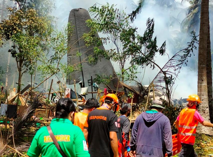 At Least 45 Dead and 50 Rescued After Military Plane Crashes in the Philippines